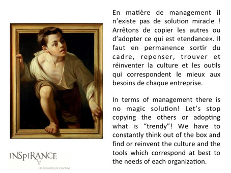 Sortir du cadre - Thinking out of the box