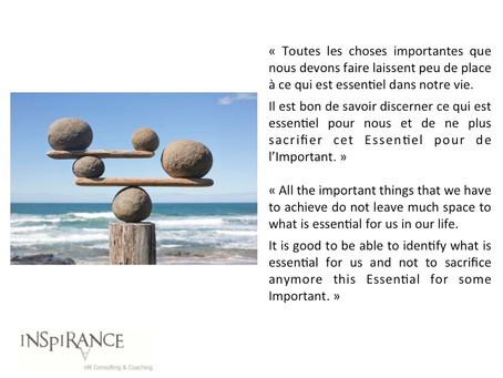 Important et Essentiel - Important and Essential