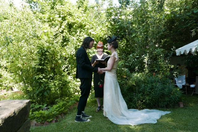 Jeanne & Luke's backyard wedding
