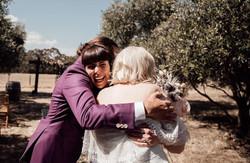 Post-ceremony cuddles with Nicoline & Michael