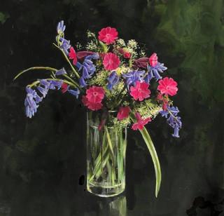 WILD FLOWERS - PINK CAMPION, BLUEBELLS & MEADOWSWEET