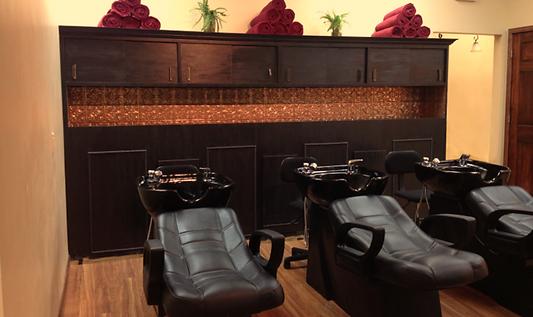 Shampoo bowls Amata Salon, Rogers MN