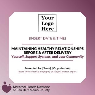 Flyer 1 - Healthy Relationships