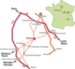plan d'accès à Toucy'Storic