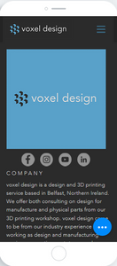 Mobile About Us voxel design