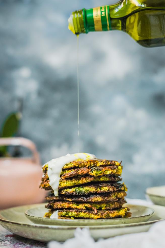 Brokolicovo-batátové placky
