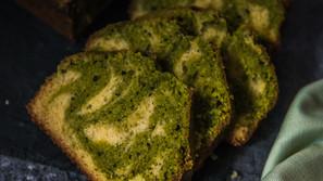 Mramorový matcha koláč