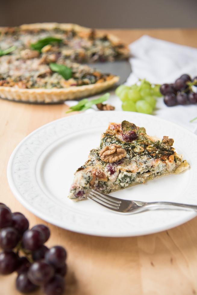 Quiche so špenátom a gorgonzolou