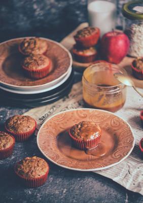 Muffiny z ovsených vločiek