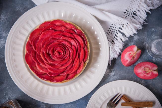 Tvarohový koláč s jabĺčkami