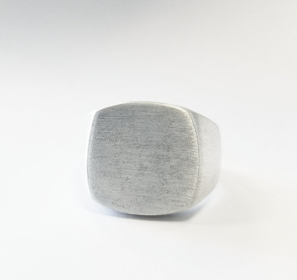 Pinky Duster Signet Ring - Silver