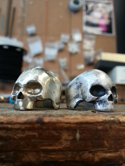 Helmet Skull Ring - Brass