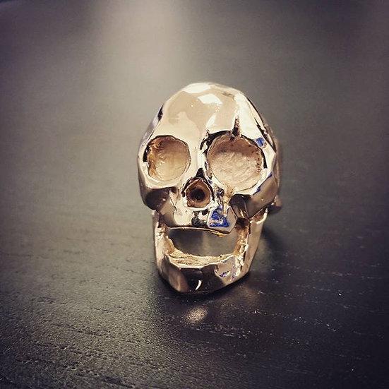 """""""Leonidas"""" Spartan King Skull Ring - 10k Gold"""
