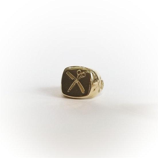 SAMPLE - Barber Ring in Brass