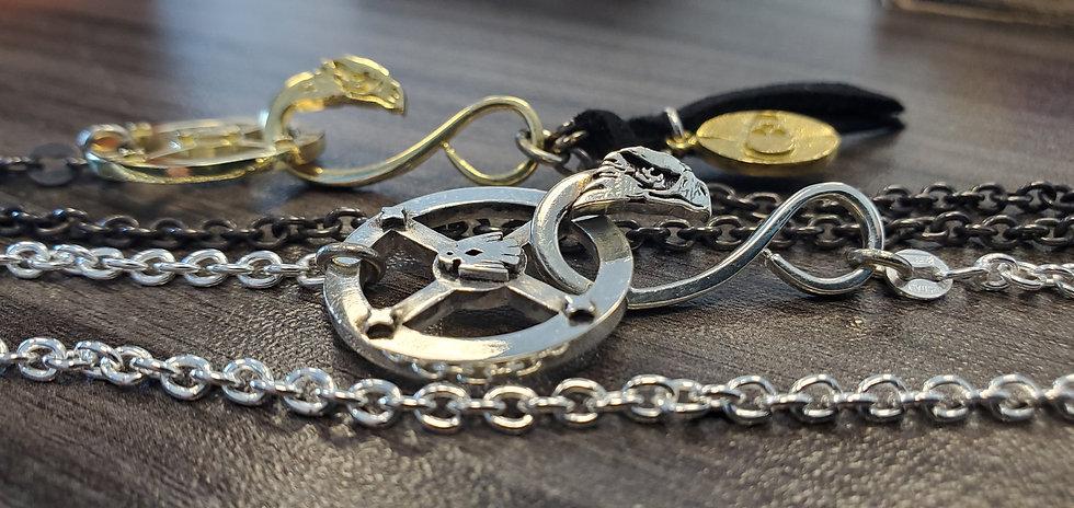 Thunderbird Eagle Medicine Wheel Necklace in Silver