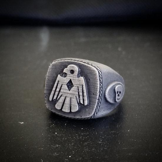 Thunderbird Skull Ring - Silver