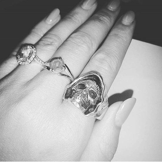 Reaper Skull Biker Ring - 10k Gold