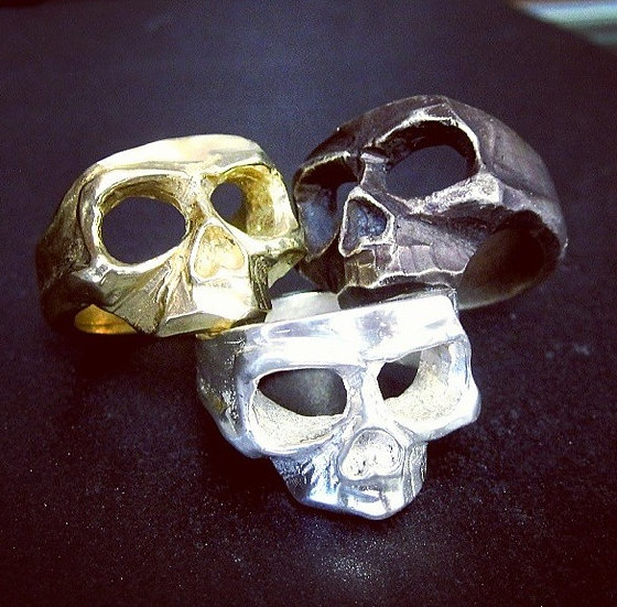 Skull Mask Ring - Brass