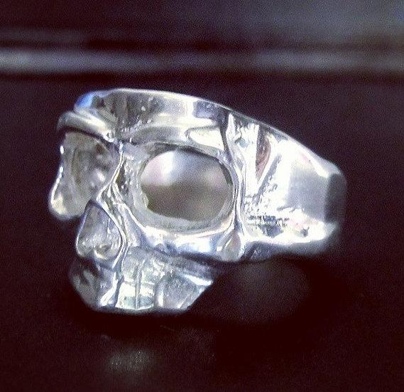 Skull Mask Ring -Silver
