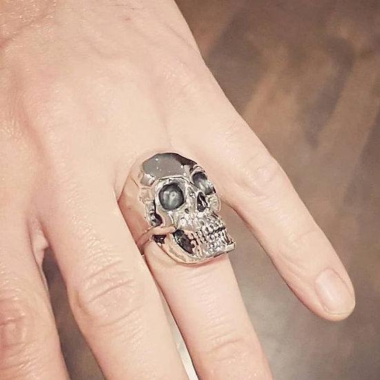Full Anatomical Human Skull Ring - Silver