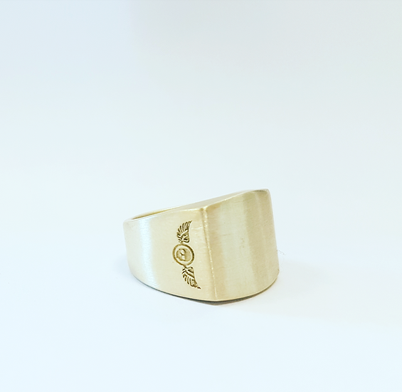 """Made In The North"" Gents Signet Brass Ring"