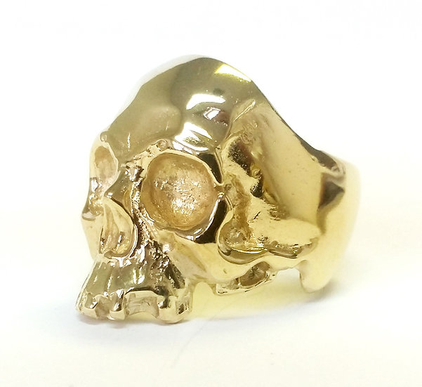 Decaying Skull Ring - Brass