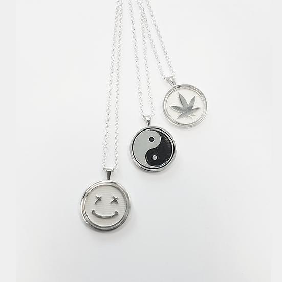 Trippy Silver pendants