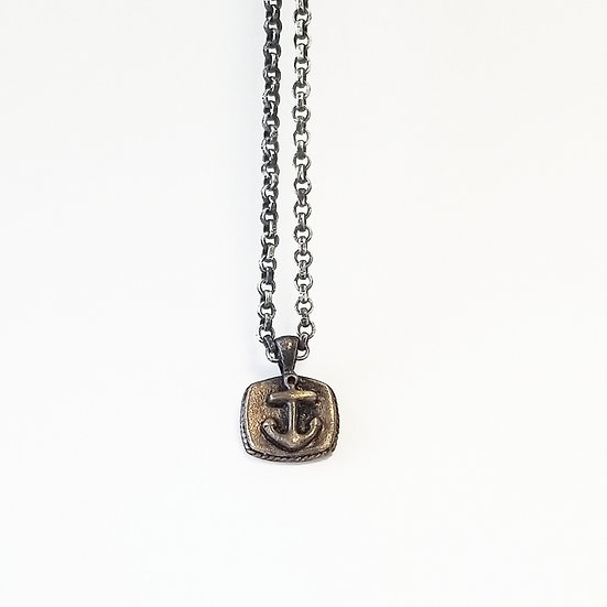 SAMPLE - Brass Anchor Sailor (pendant only)