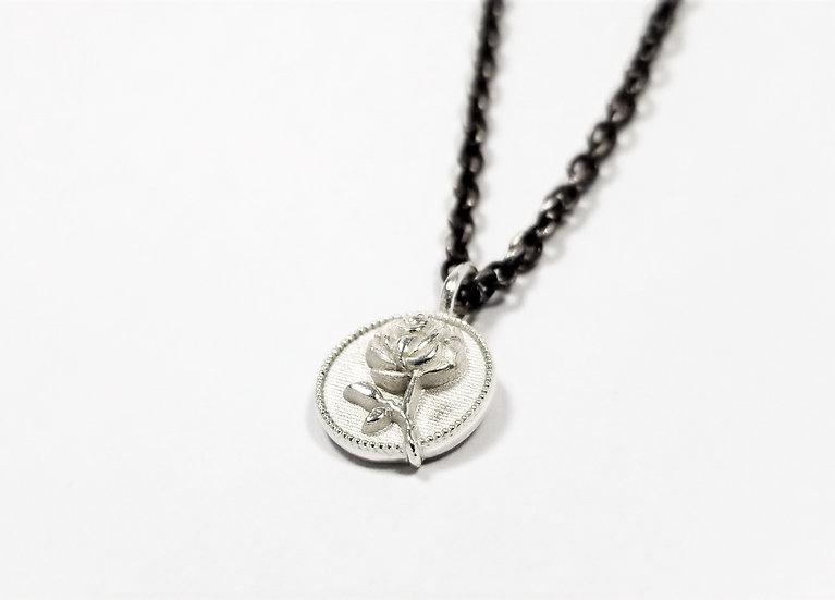 Tiny Ramblin' Rose Pendant Necklace