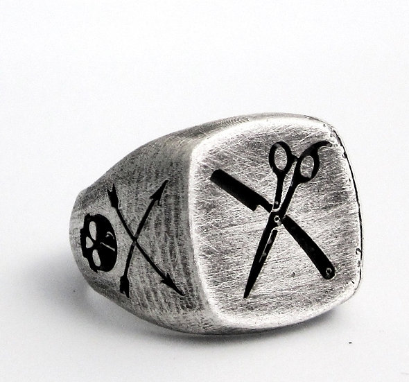 Barber Skull Ring