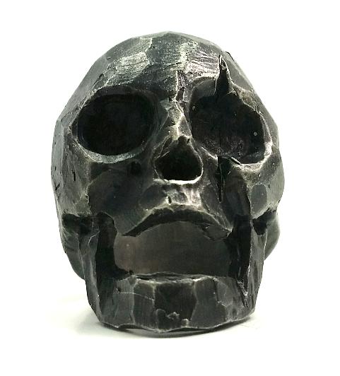 """Leonidas"" Spartan King Skull Ring - Oxidized Silver"