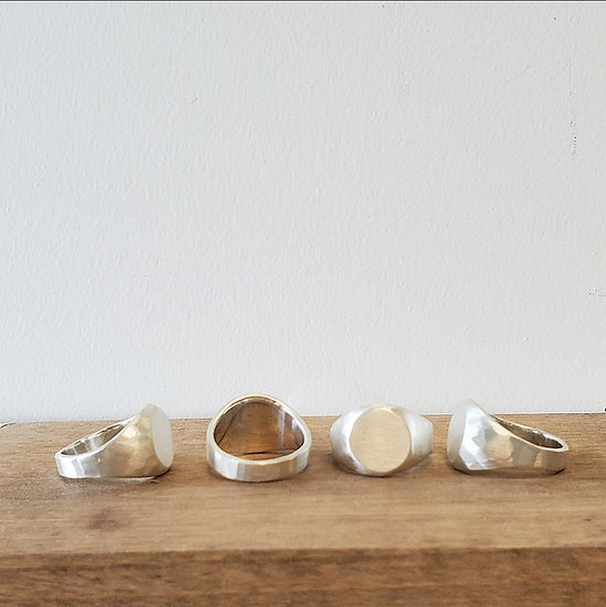 *SAMPLES* The GENT in brushed silver signet ring