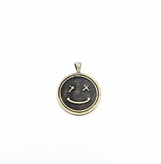 SAMPLE - Smiley Brass Pendant