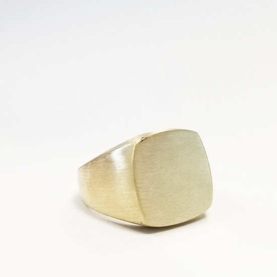Pinky Duster Signet Ring - 10K Gold