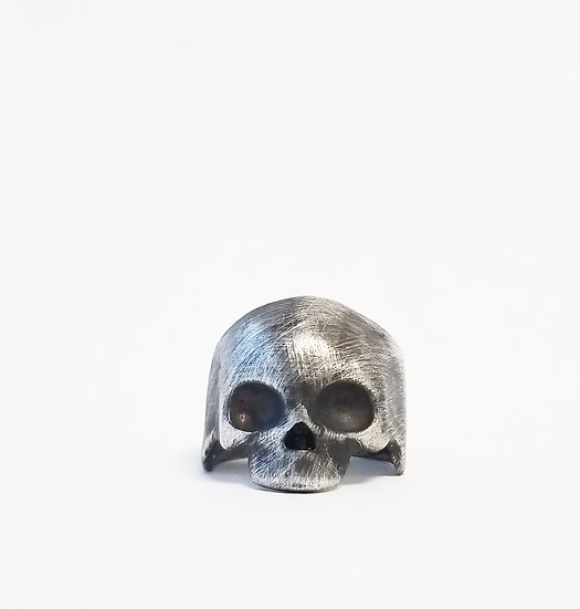.925 Sterling Silver Helmet Skull Ring