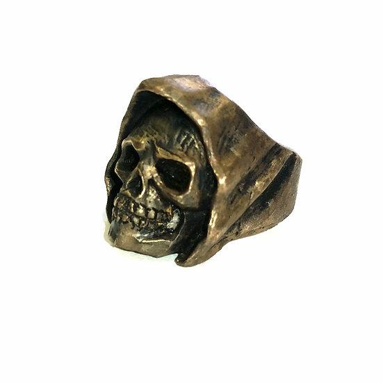 Reaper Skull Biker Ring -Brass