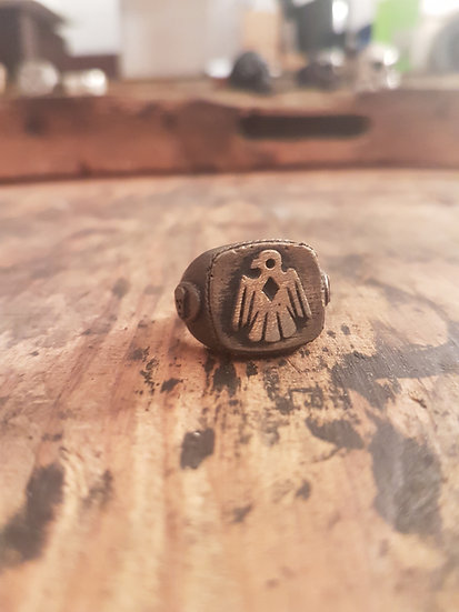 Thunderbird Skull Ring - Brass