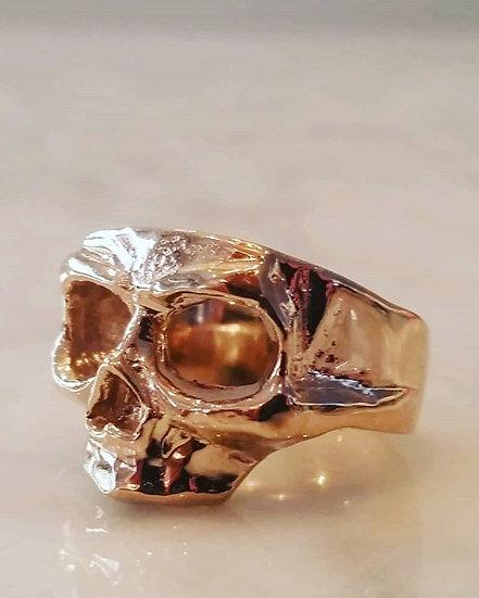 Skull Mask Ring - 10k Gold