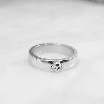 'Til Death Skull Band (Small) - Silver