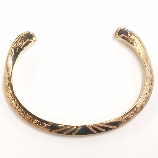 Native Seahawk Brass Bangle