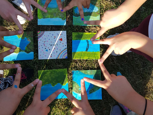 Wandern, Malen und Picknicken! Passt zusammen!