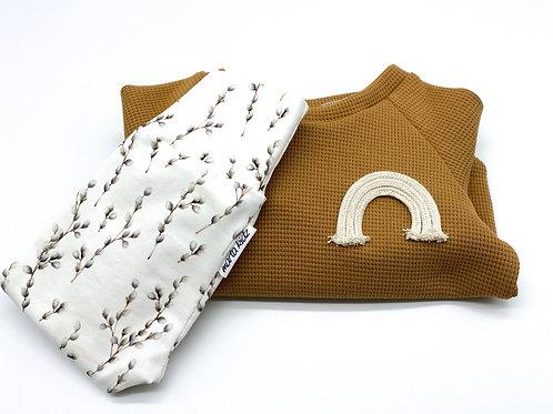 Basic Sweater Waffelstrick mit Leggings Gr. 62/68
