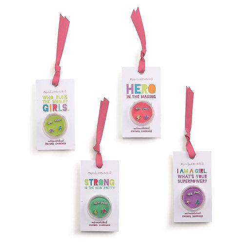 CUPCAKES & CARTWHEELS kit brincos girl power