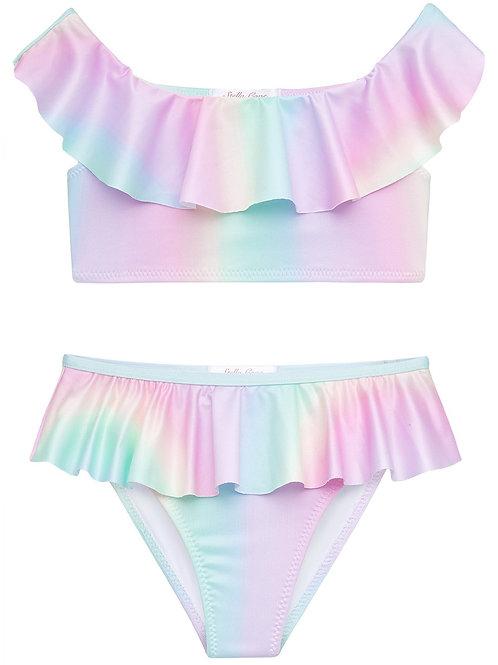 STELLA COVE bikini rainbow babado