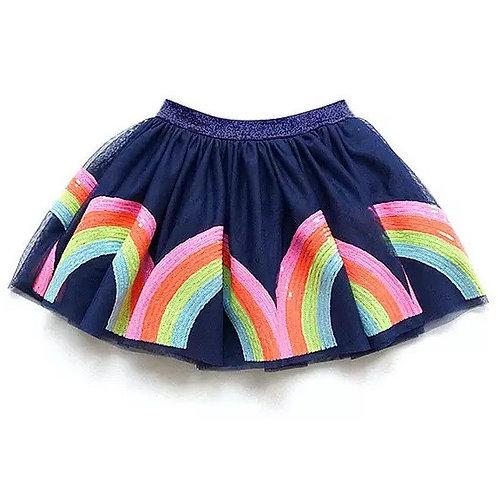 ANNA LOVES KAKI saia tutu rainbow