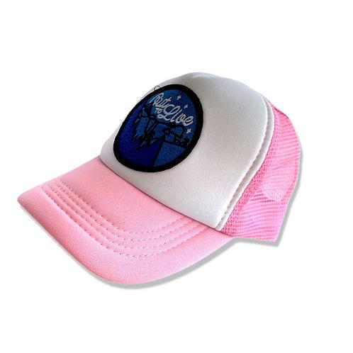 ANNA LOVES KAKI boné trucker rosa