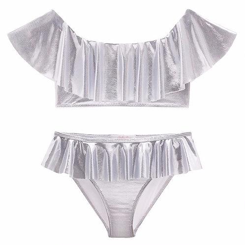 STELLA COVE bikini metallic silver