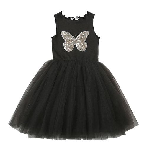 ANNA LOVES KAKI vestido tutu butterfly preto