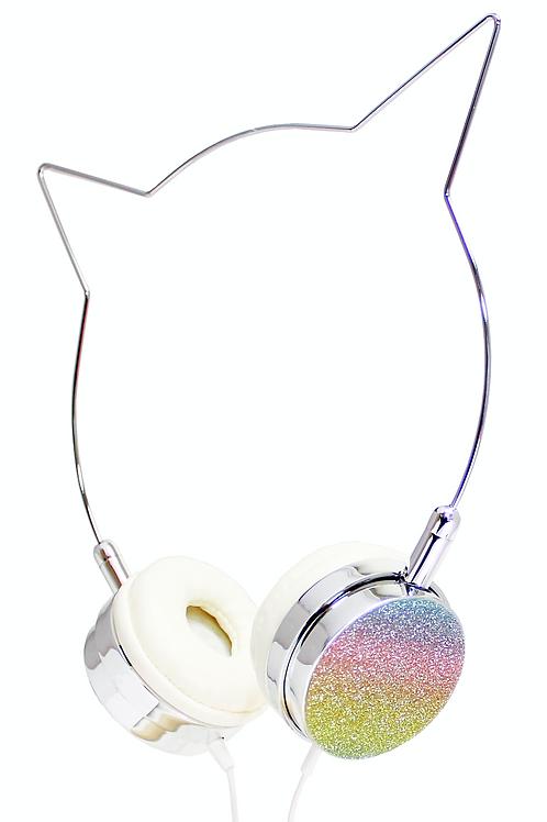 AMERICAN JEWEL fones de ouvido glitter cat