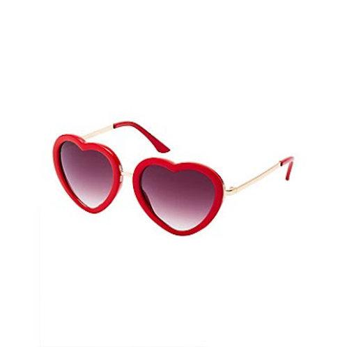ANNA LOVES KAKI óculos de sol coração